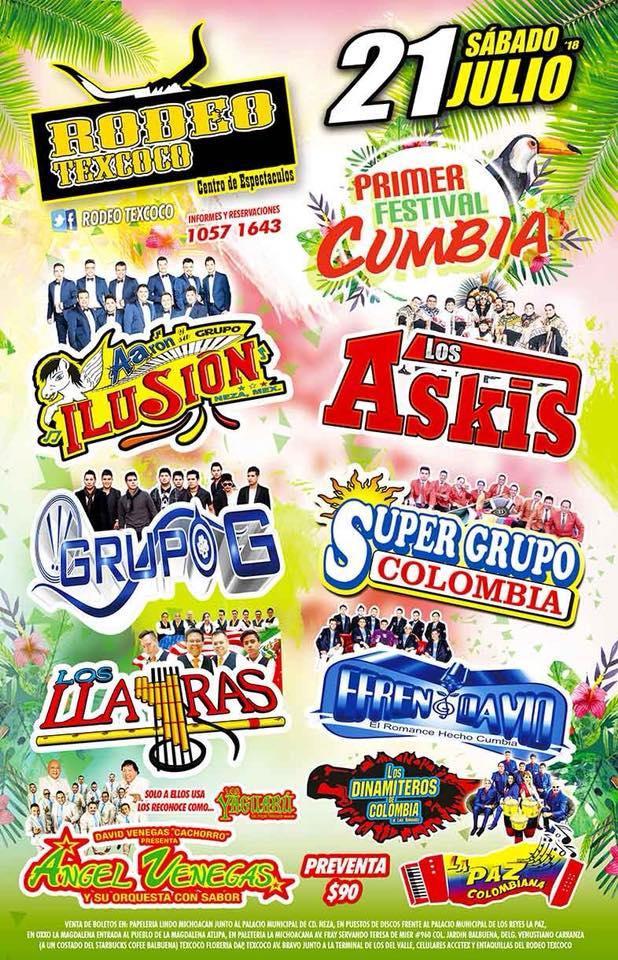 Primer Festival de la cumbia en Rodeo Texcoco