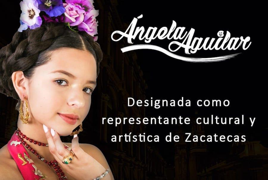 """Ángela Aguilar es nombrada """"Representante Cultural y Artística de Zacatecas"""""""