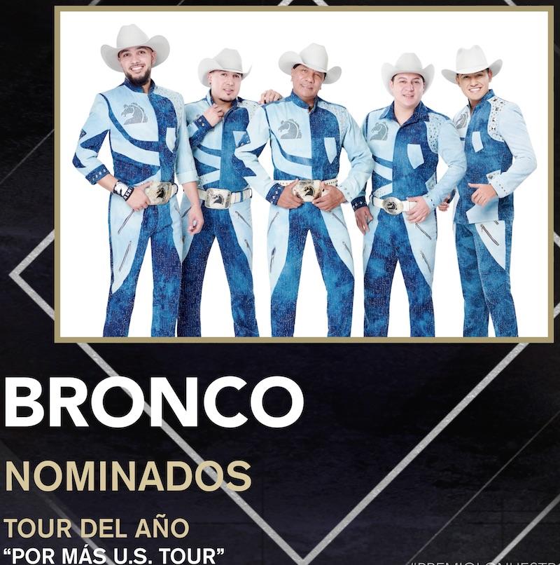 Gracias a su exitosa gira Grupo Bronco es nominado a Premio Lo Nuestro