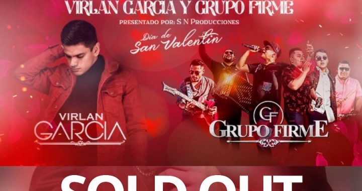 Anuncian el SoldOut para el evento de Virlán García y Grupo Firme en el Auditorio Telmex.
