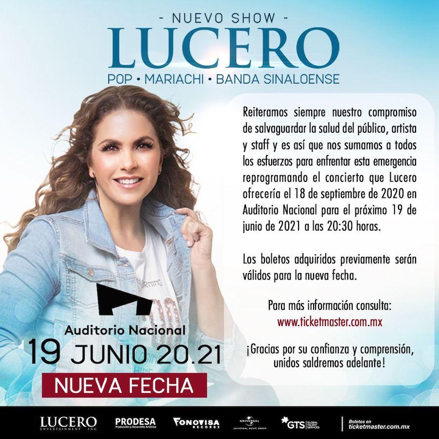 Lucero en el Auditorio Nacional - 19 de junio de 2021